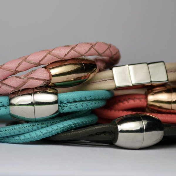Little Sprout Keepsake Jewellery Varieties of leather bracelets with different fastenings